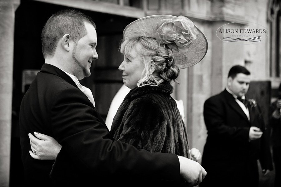 "Mother and Groom moment – ""Hey, remember this?"""