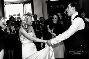 "First wedding dance – ""Hey, remember this?"""