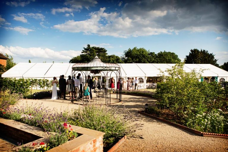 wedding guests at the Walled Gardens Beeston