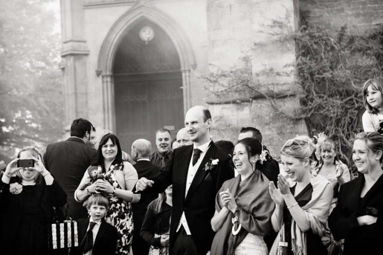 guests at Belvoir Castle wedding when the guns have been fired