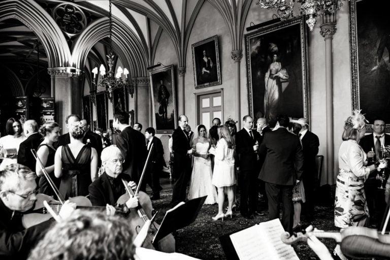 wedding reception at Belvoir castle