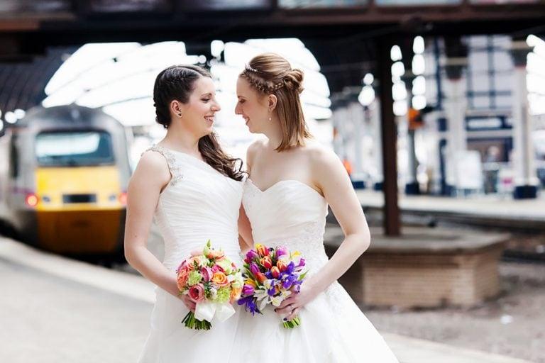 brides at York train station
