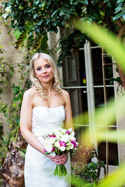 bride in orangery at Prestwold hall