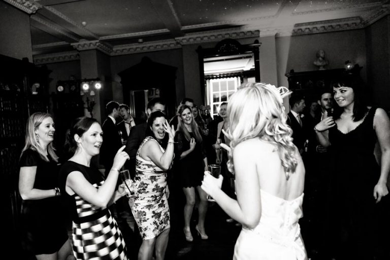 guests dancing at prestwold hall wedding