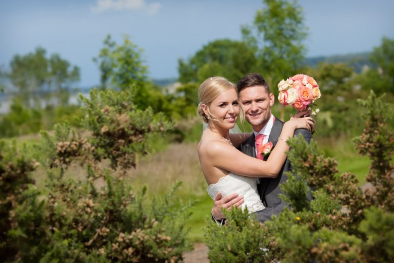 bride and groom at Rutland Water Golf Course