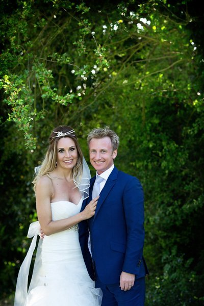 The Old Vicarage Boutique Wedding Photographer bride and groom in gardens