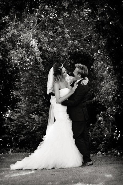 bride and groom at old vicarage southwell
