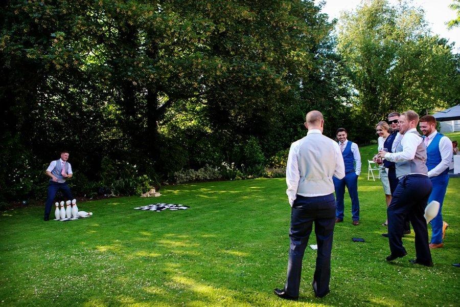 guests playing garden bowls at old vicarage