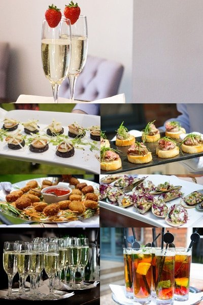 canapés and drinks weddings at the old vicarage boutique hotel