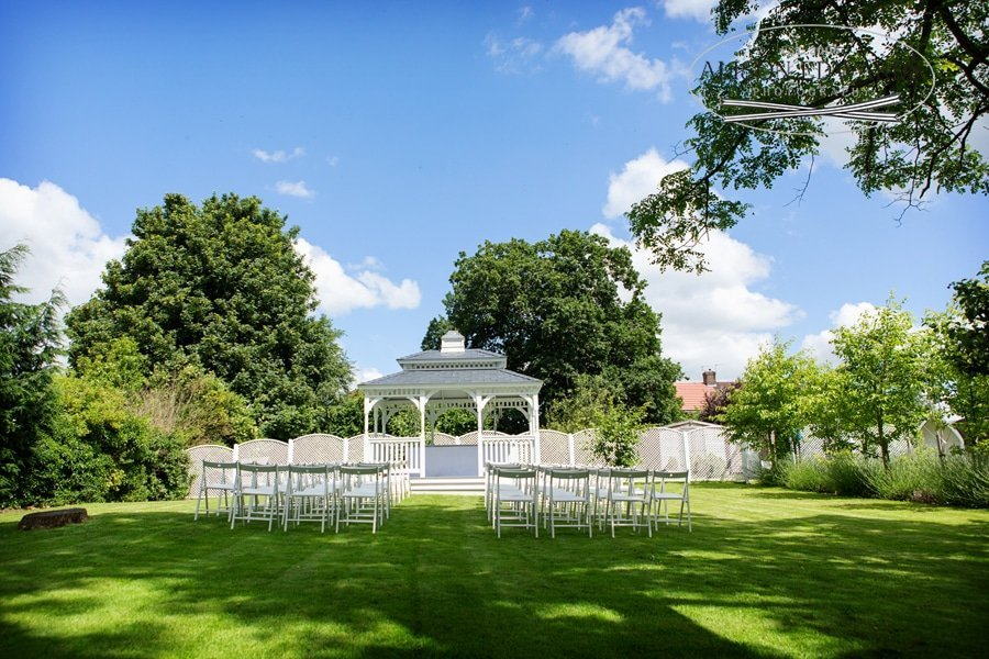 bandstand at old vicarage boutique hotel garden view
