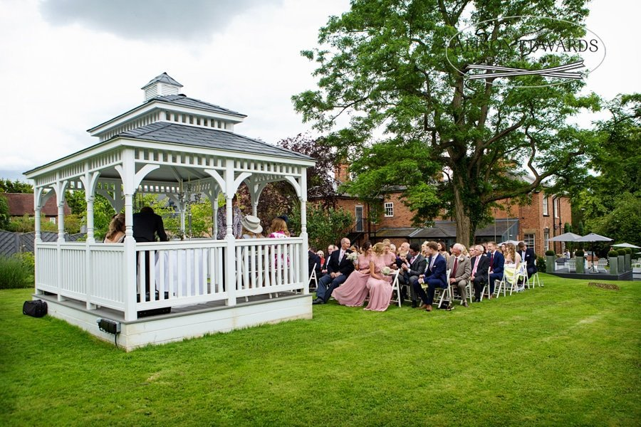 old vicarage boutique bandstand with guests