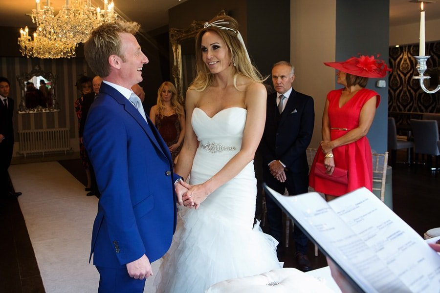 wedding ceremony at old vicarage boutique hotel
