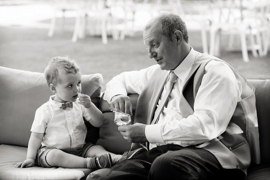 pageboy and grandad at wedding