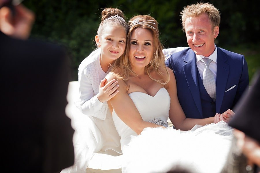 bride groom and daughter weddings at old vicarage boutique hotel