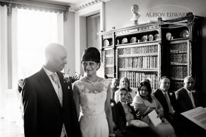 "Bride and groom at Prestwold Hall – ""Hey, remember this?"""