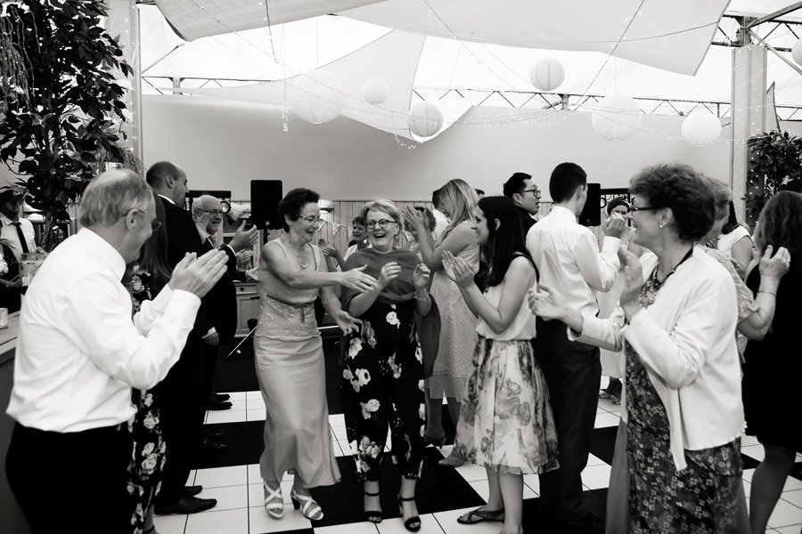 guests Kayleigh dancing at Floral Media wedding