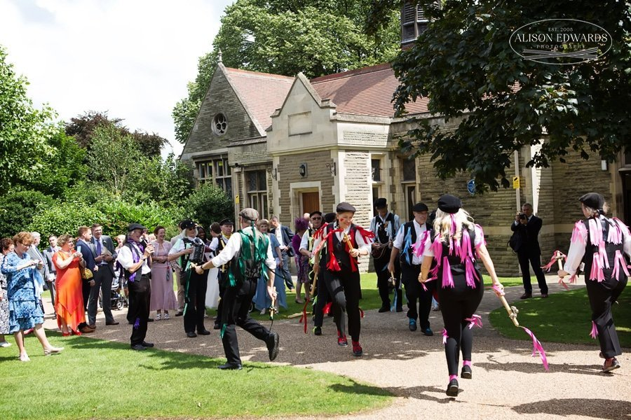 Morris dancers at The gilstrap