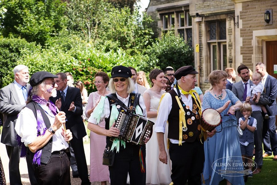 guests and morris dancers at the gilstrap