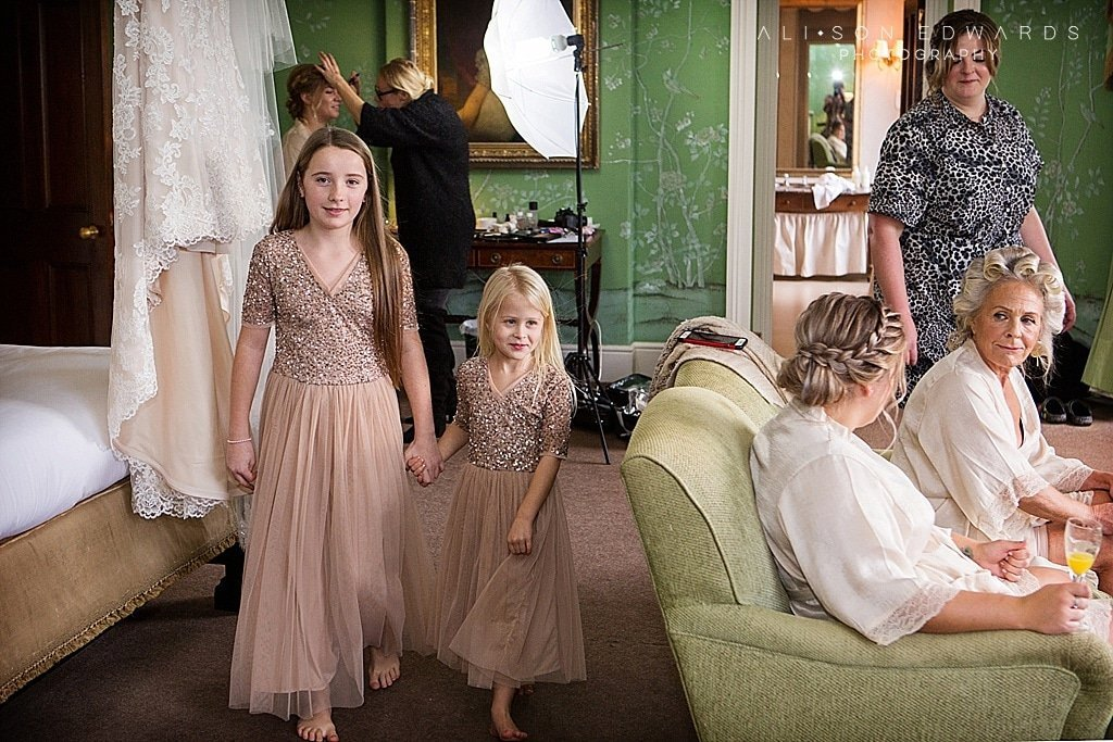 bridesmaids ready at stubton hall