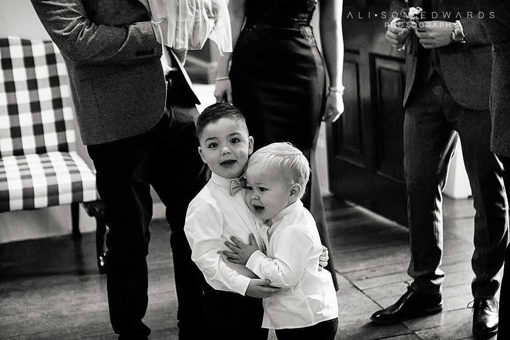 page boys at staunton hall wedding