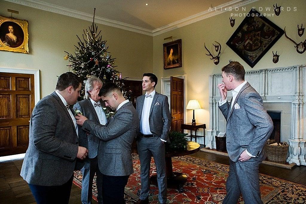 groomsmen getting ready at stubton hall