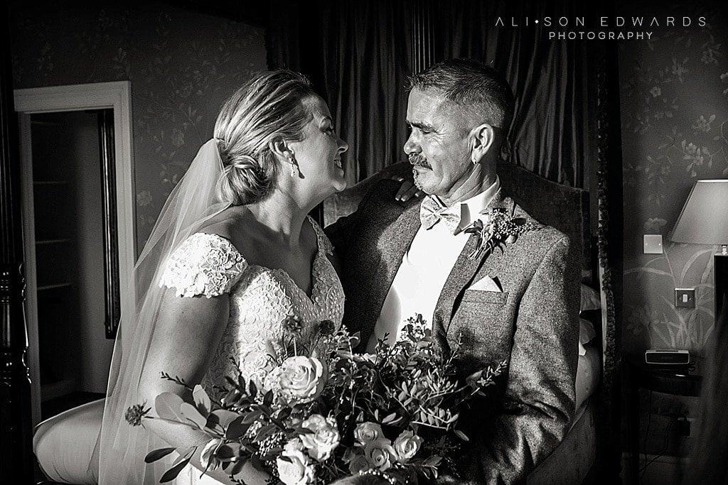 bride and dad pre-ceremony look