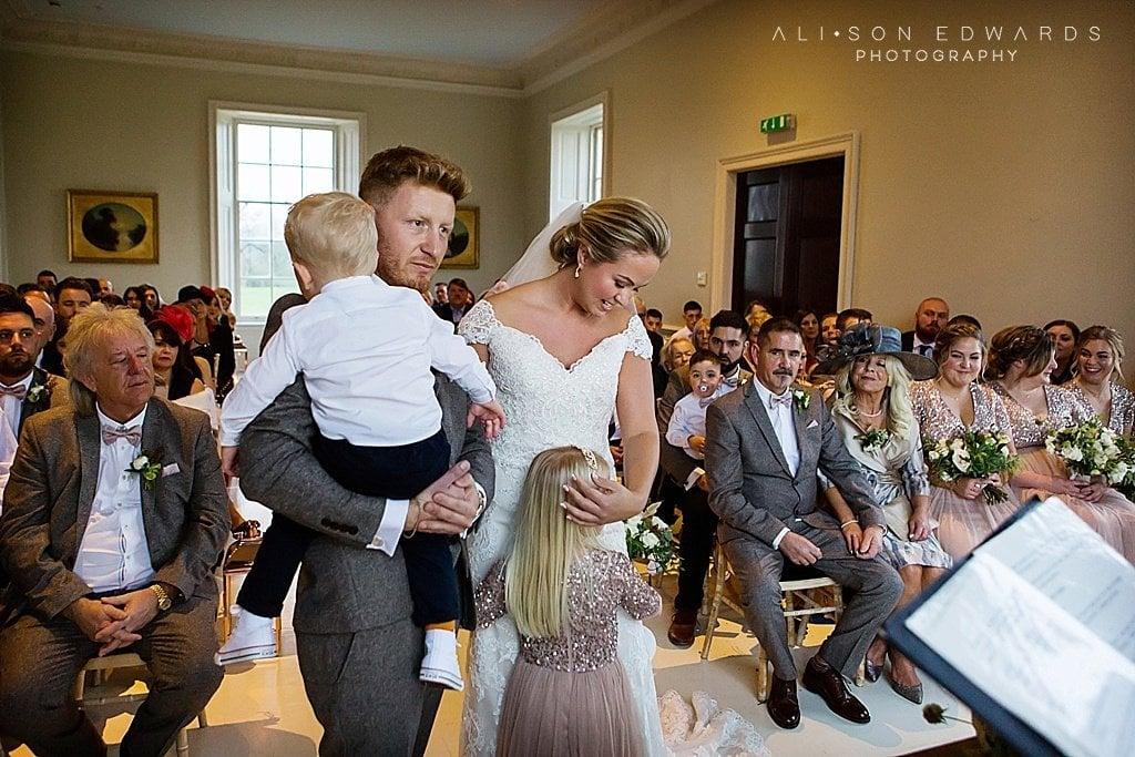 stubton hall wedding photographer ceremony photo