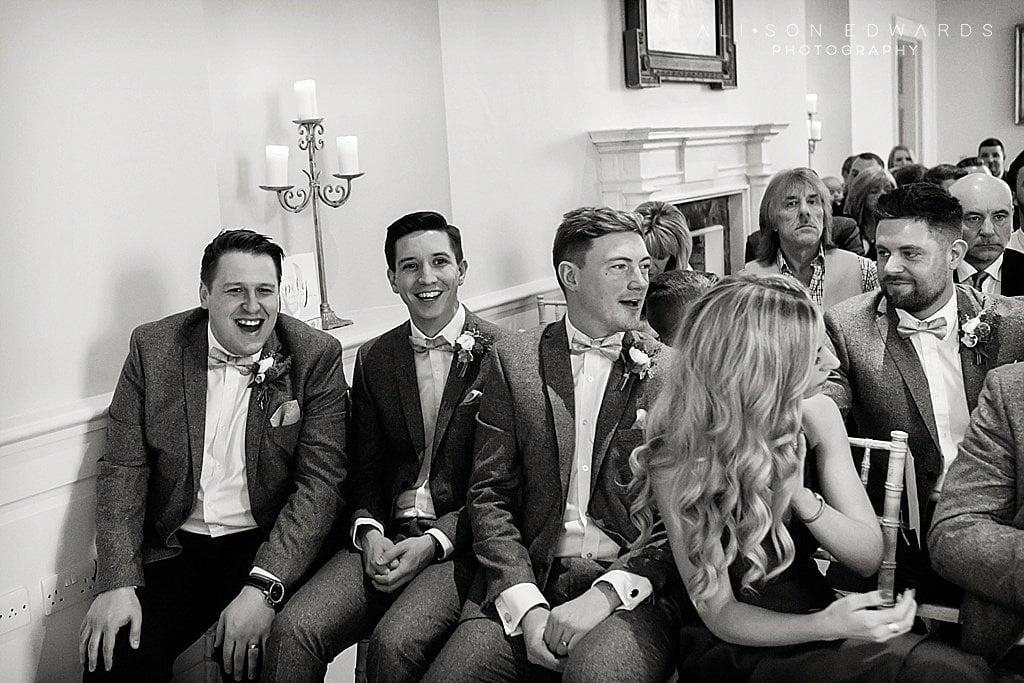 groomsmen at sutton hall