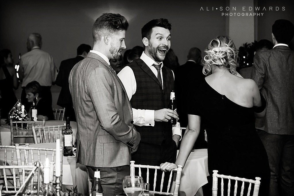 wedding guest laughing at stubton hall
