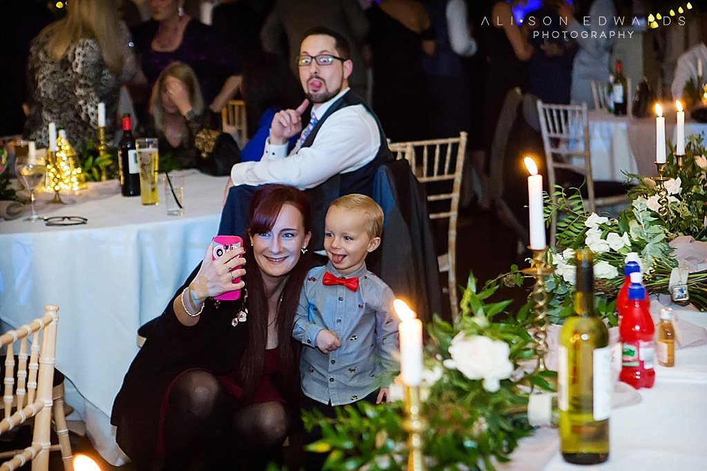 mum taking selfie with son at stubton hall