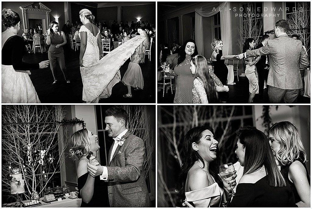wedding guests dancing at stubton hall newark