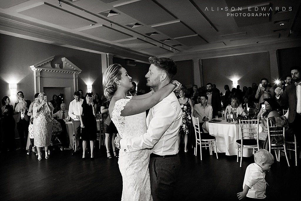 bride and groom's first dance at stubton hall nottingham