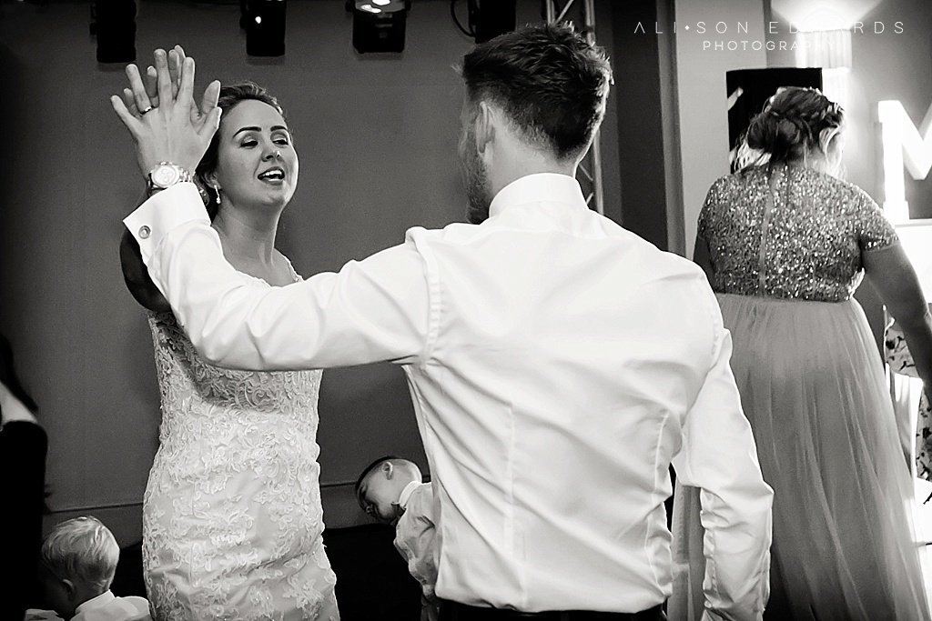 bride and groom dancing at stubton hall newark
