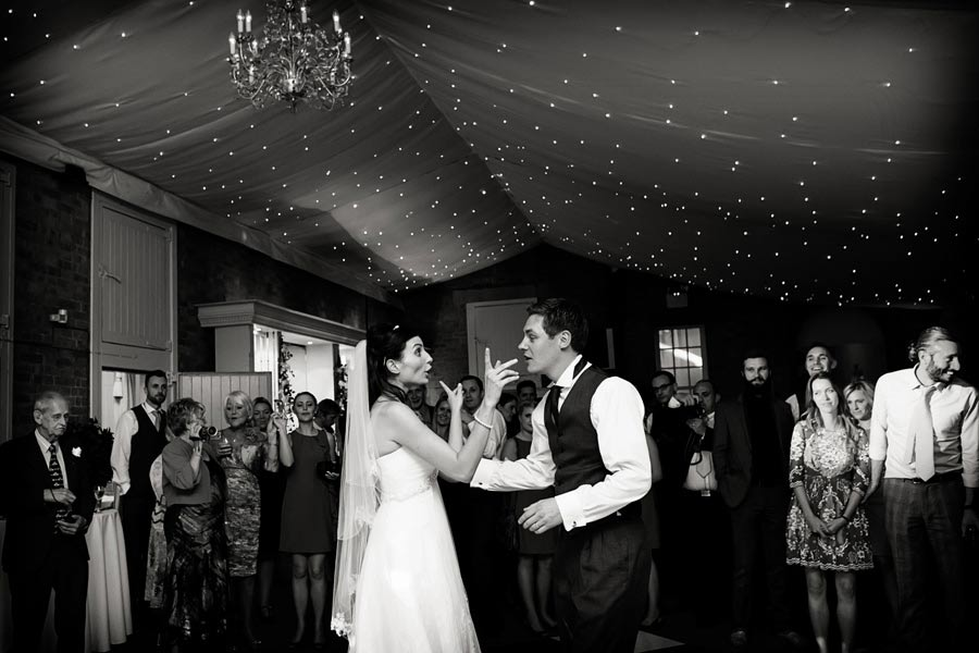 bride and groom dancing at norwood park southwell