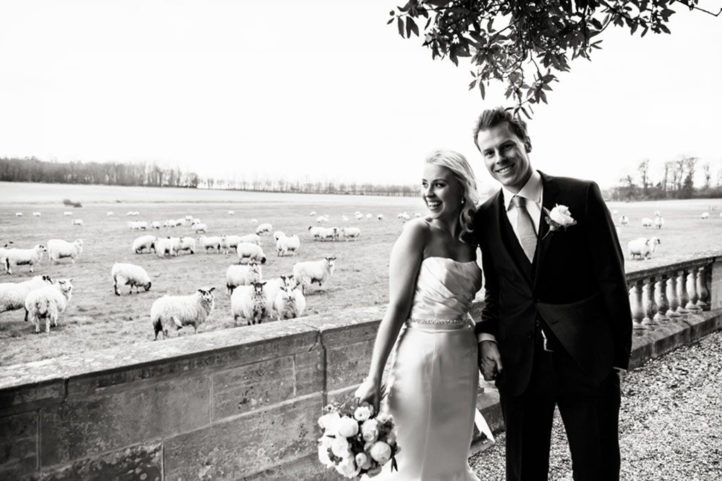 wedding photography of bride and groom at Prestwold Hall