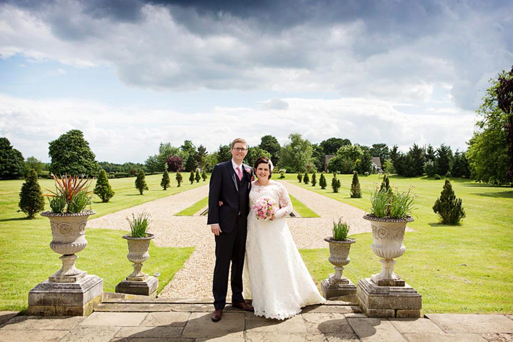 bride and groom at Stubton Hall Newark