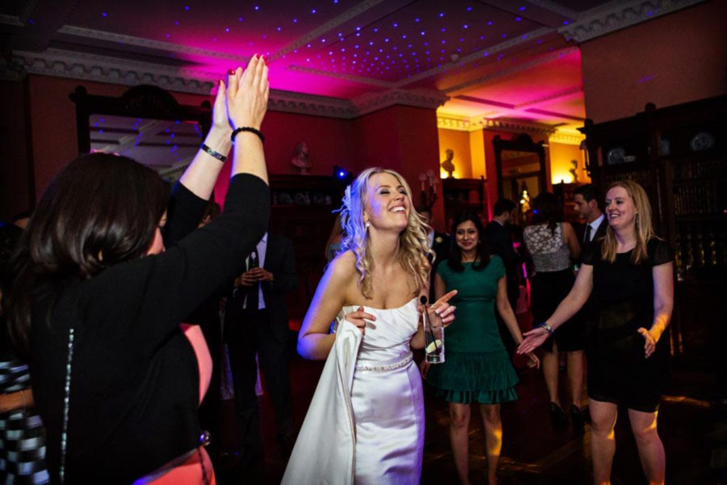 bride dancing at Prestwold Hall