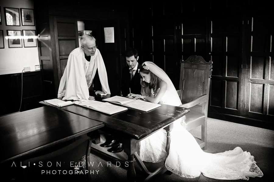 Signing the Register Wedding Photo – Hey remember this?