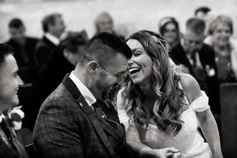 Draycott Church Wedding – Winter Wedding in black and white photos