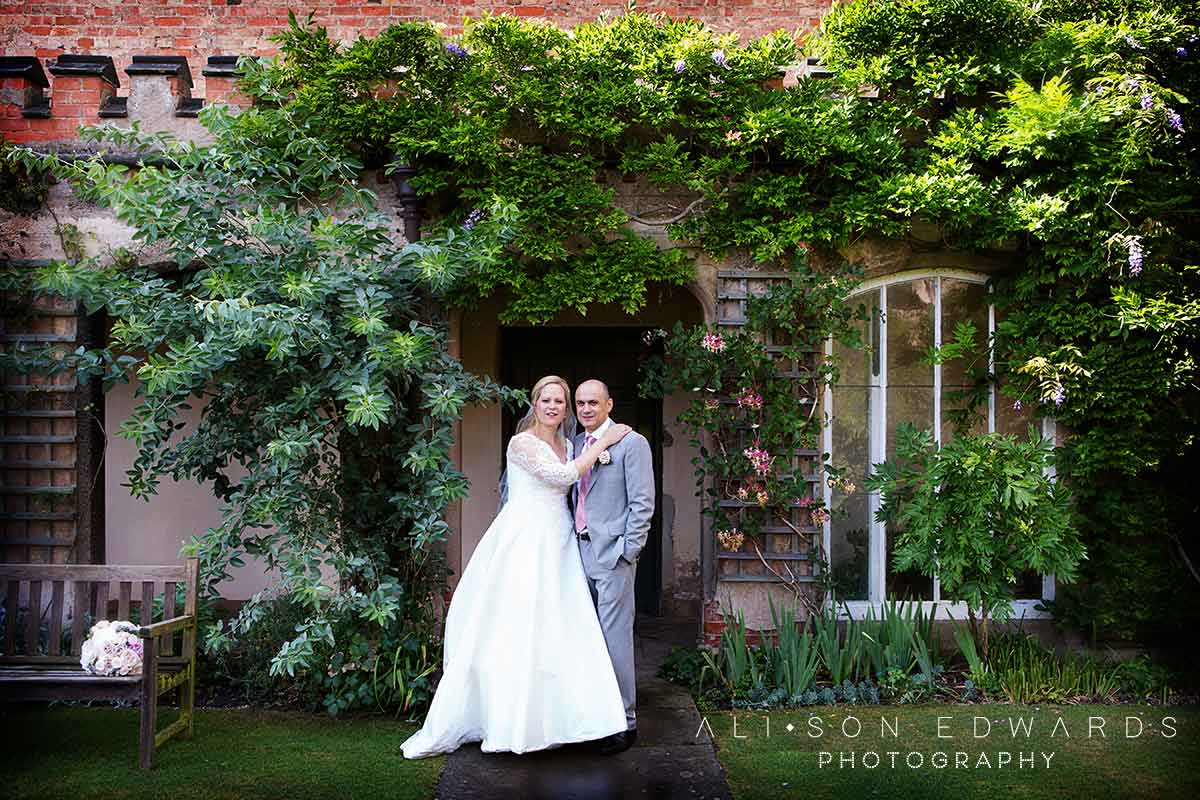 bride and groom at east midlands wedding venues holmepierrepont hall