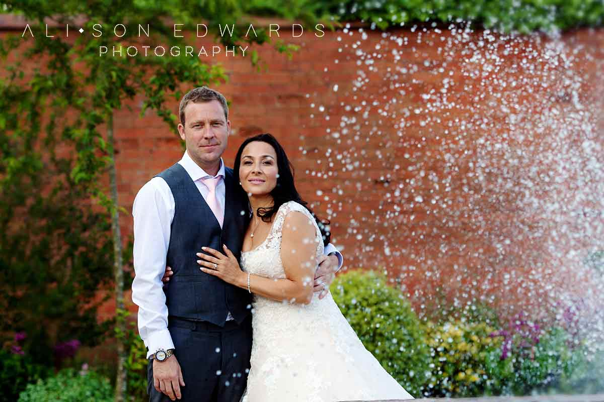 bride and groom at Kelham House