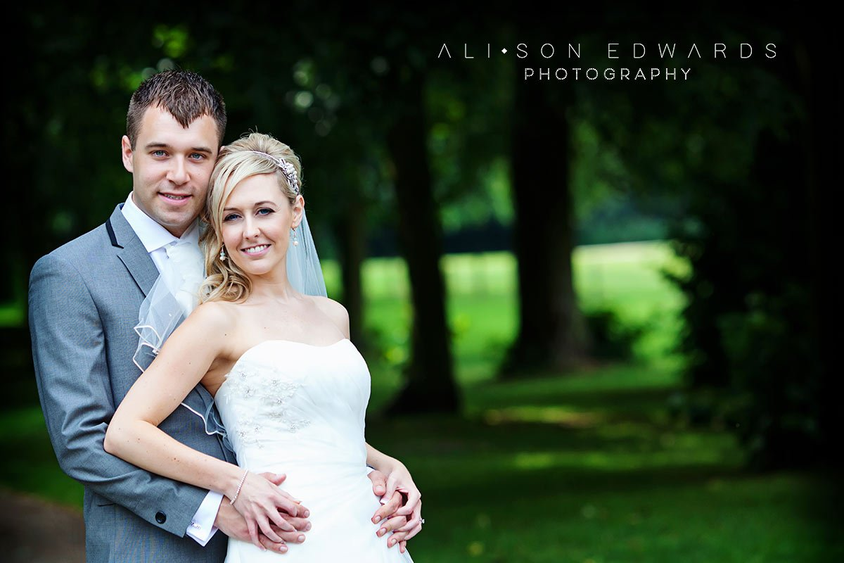 bride and groom at rufford abbey nottingham