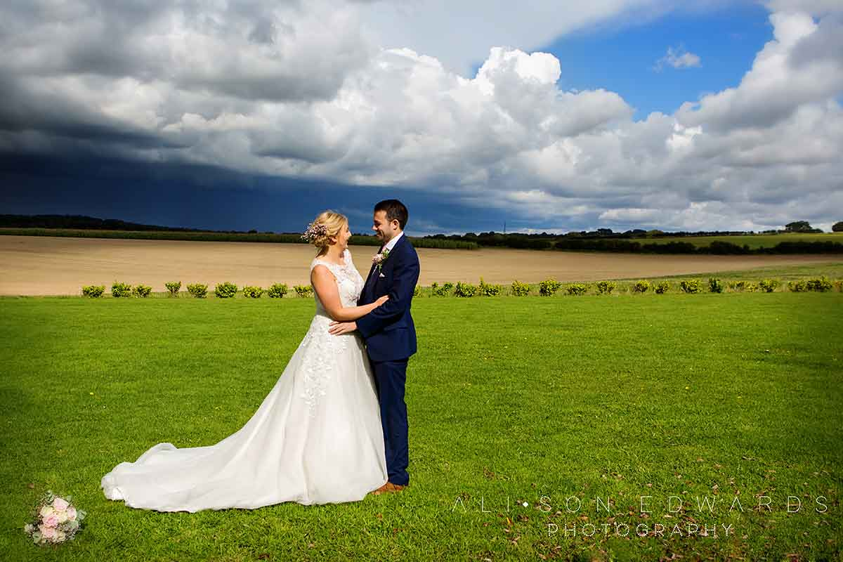 bride and groom at east midlands wedding venue the goosedale