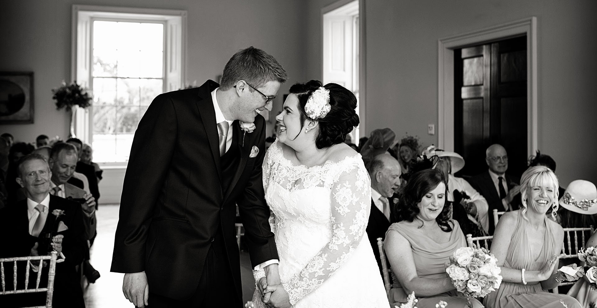 bride and groom at stubton hall intimate wedding photography nottingham