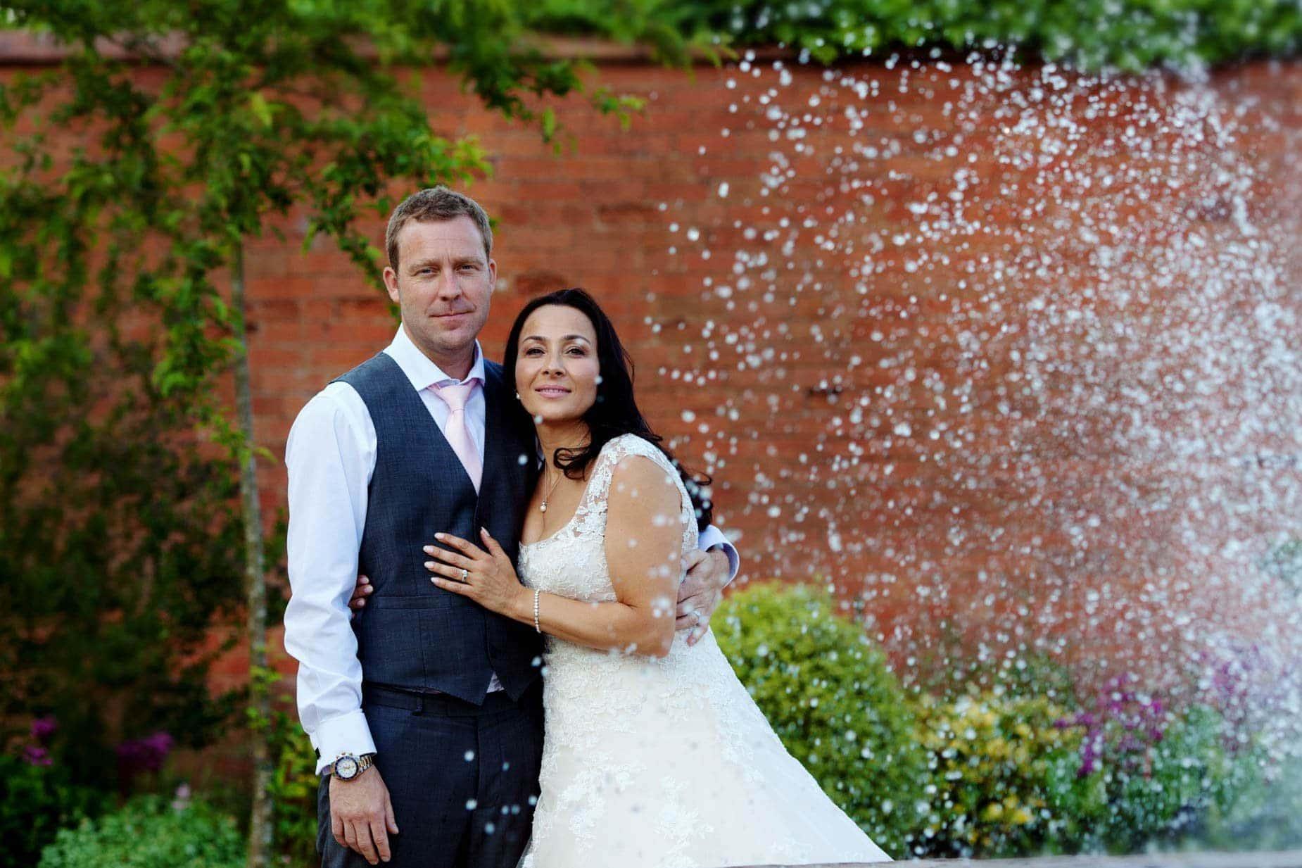 bride and groom at kelham house east midlands wedding venue