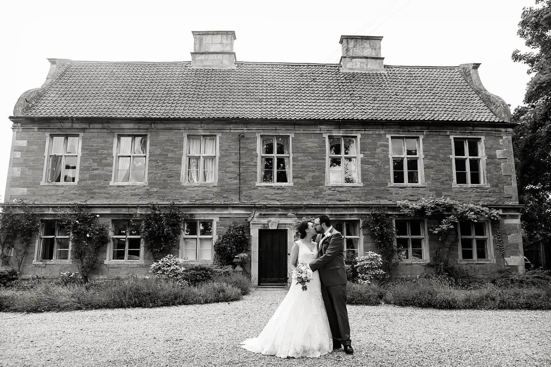 bride and groom at allington manor east midlands wedding venues