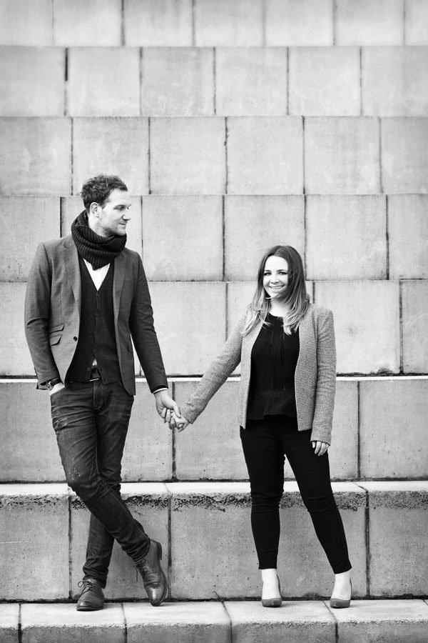 engaged couple on photo shoot in nottingham