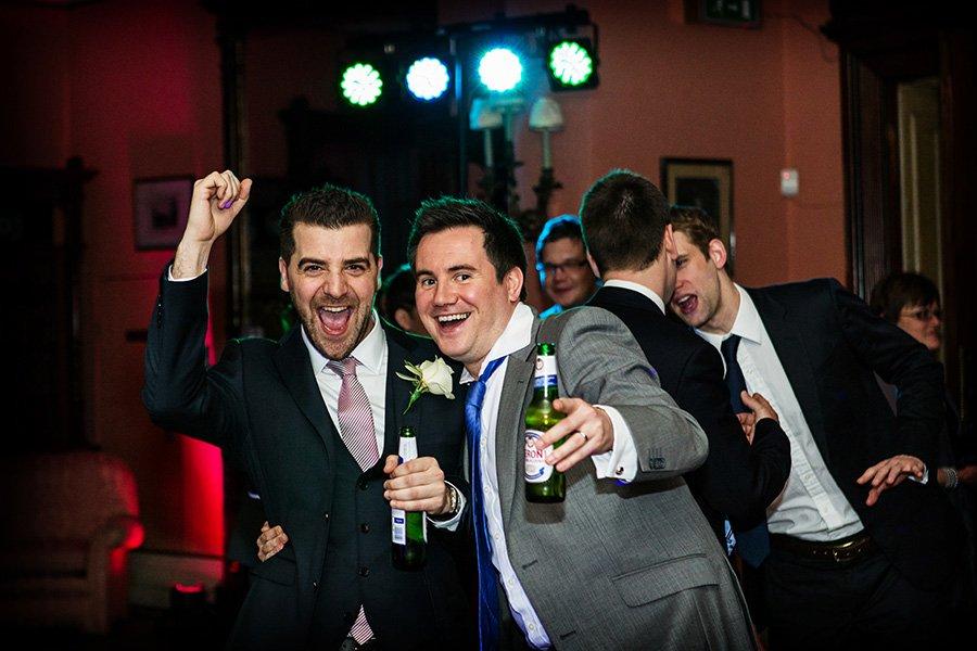 guests dancing at nottinghamshire wedding