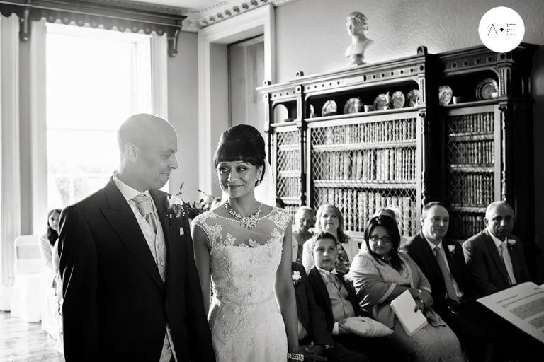 """Couple at Prestwold Hall – side glance – """"Hey, remember this?"""""""
