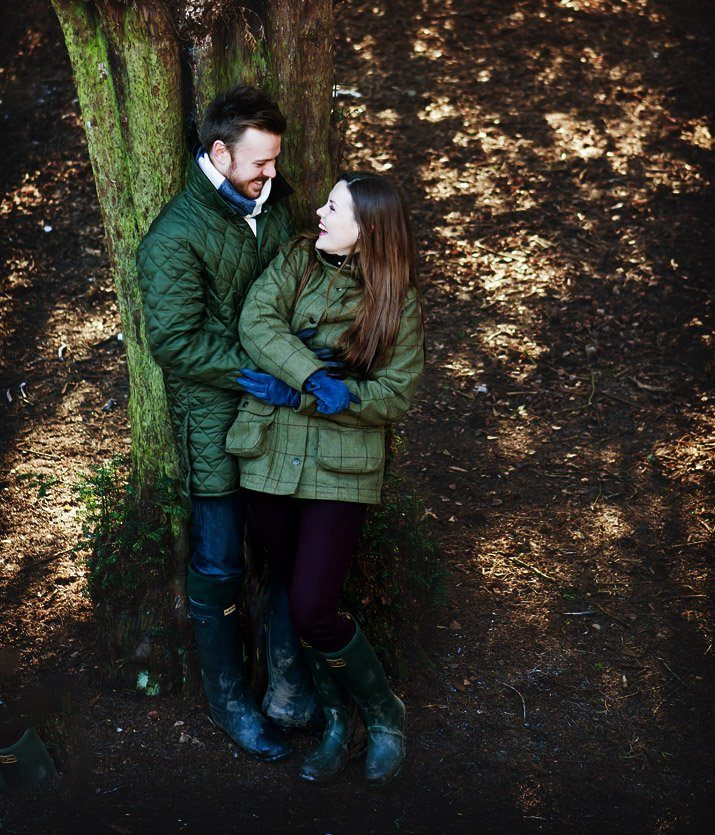 engagement shoot in derbyshire